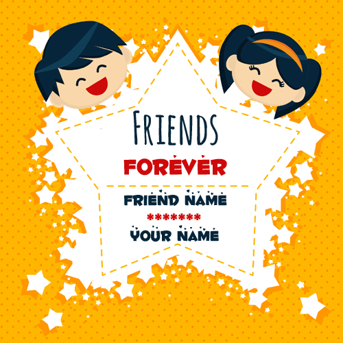 Friends Forever Friendship Greeting Card With Your Name