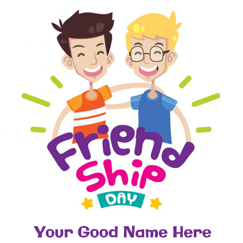 Cute Friendship Day Funny Greeting With Your Name