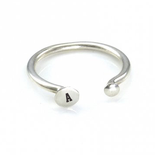 Write Name Alphabet on Beautiful Silver Letter Ring