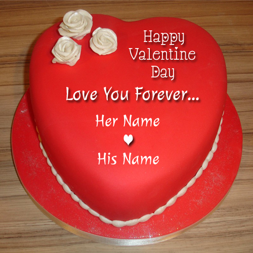 Write Name On Happy Valentine Day Love Greeting Card