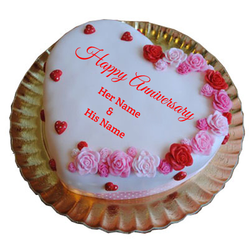 Write Name on Have A Great Anniversary Cake