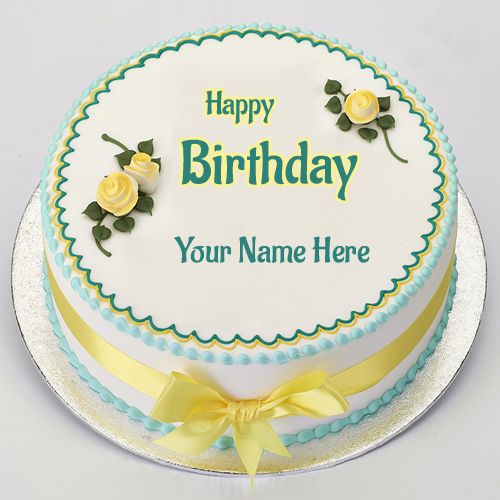 Name Birthday Cake and Birthday Wishes With Custom Name