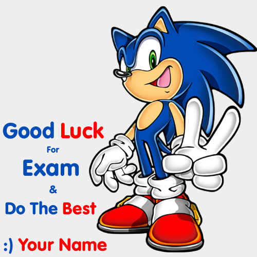 Best of Luck For Exam Wishes Greeting With Name