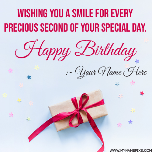 Birthday Card With Name.Write Your Name On Birthday Cards