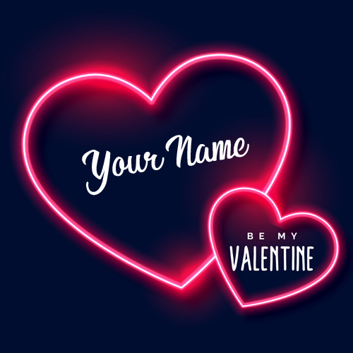 Happy Valentines Day 2019 Heart Greeting Card With Name