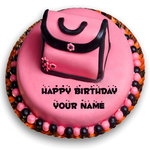 Happy Birthday Cake For Cute Girl With Your Custom Name
