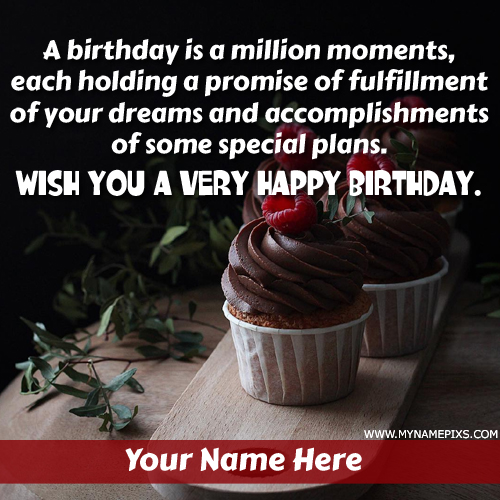 Write Name on Happy Birthday Wish Card For Dear Friend