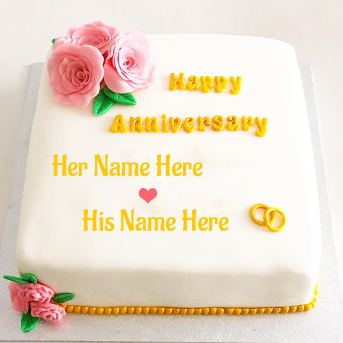 Write Name on Happy Engagement Anniversary Cake