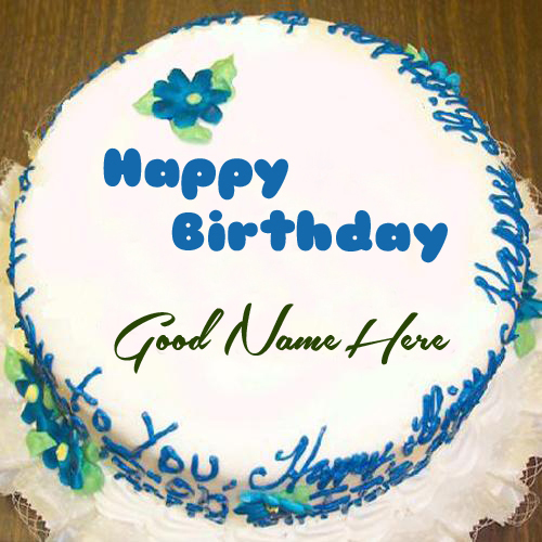Write Your Name On Pretty Birthday Cake Online