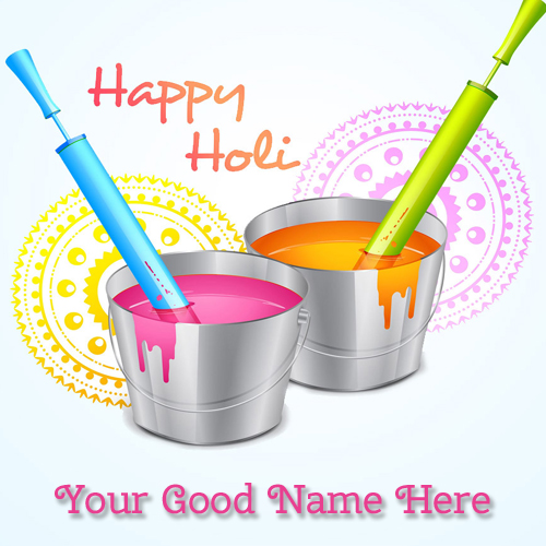 Happy Holi 2015 Greetings With Your Name Online