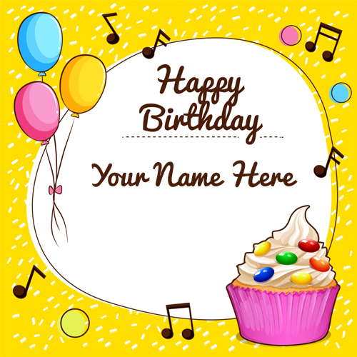 Birthday Cards Wishes With Name ~ Write your name on birthday cards