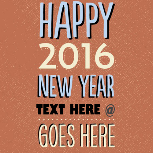 Write Name on New Year 2016 Party Invitation Card Pictu