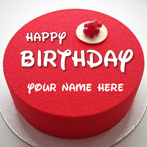 Happy Birthday Wishes Red Russian Cake With Your Name – Russian Birthday Greetings