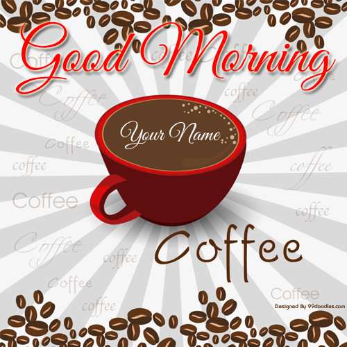 Create Good Morning Whatsapp DP With Name Online