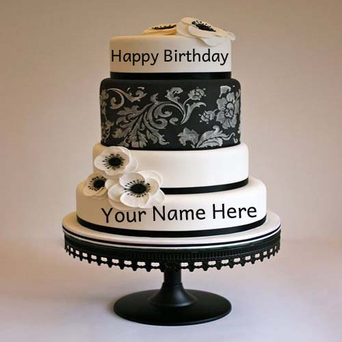birthday cake with name and picture edit option Cakes ...