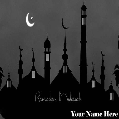 Write Your Name On Ramadan Mubarak Greetings