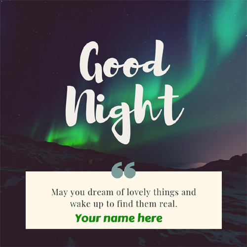 Good Night Sweet Dreams Quote Greeting With Your Name