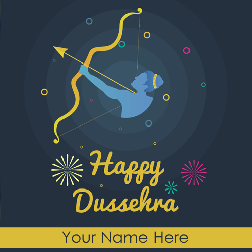 Happy Dussehra 2018 Festival Whatsapp Status With Name