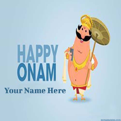 Write Your Name On Onam 2015 Greetings Pic