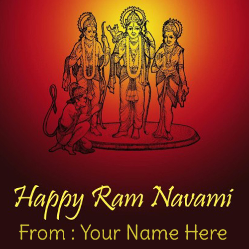 Write Name on Ram Navami 2015 Celebration Greetings