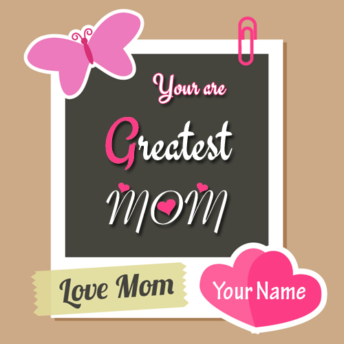 Love You Mom Cute Quote Greeting For Mother With Name