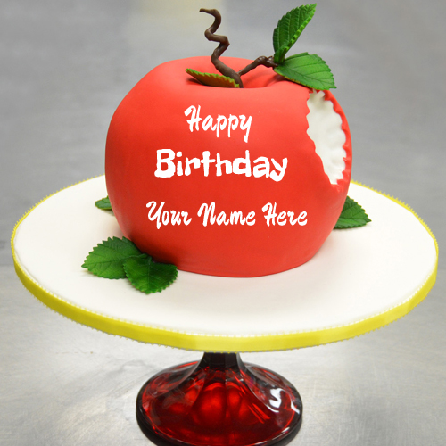 Sculpted Snow White Apple Birthday Cake With Your Name