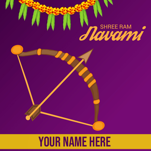 Happy Ram Navami Lord Rama Birthday Greeting With Name