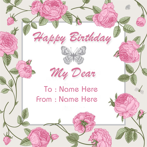Create Custom Birthday Wishes Greeting Card With Name