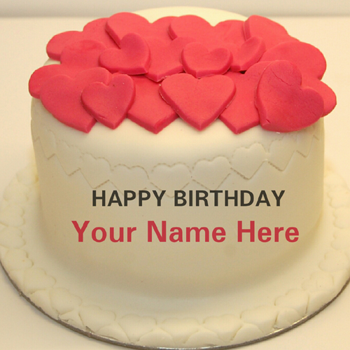 Happy Birthday Wishes Multipurpose Heart Cake With Name