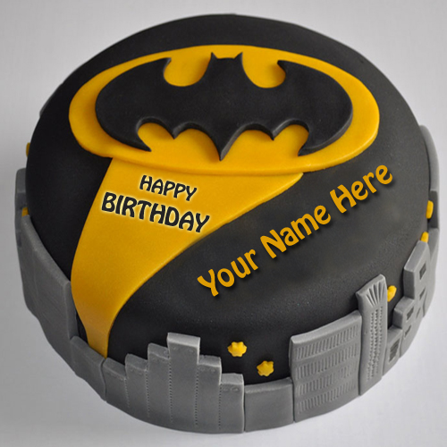 Write Name on Batman Birthday Cake For Brother