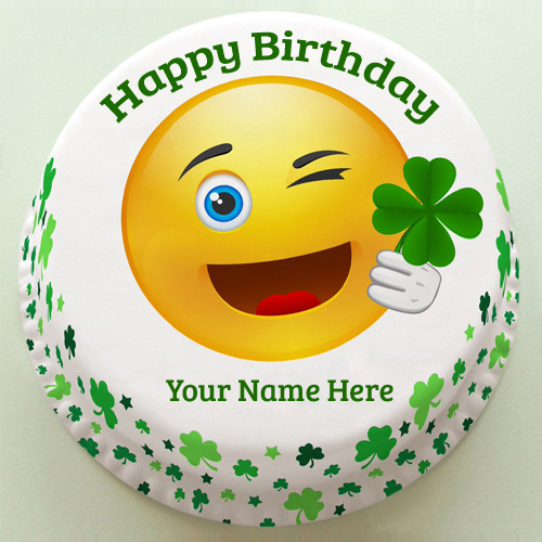 Birthday Cake Emoji Art : Write Your Name on brithday cakes online pictures editing