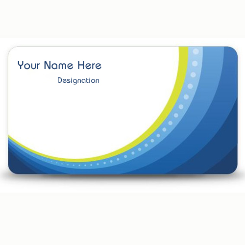 Write Your Name and Designation on Business Card Pictur