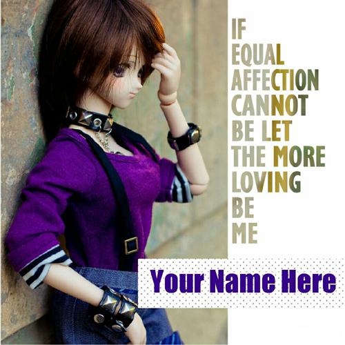 Loving and Smiling Doll Picture With Quotes and Name