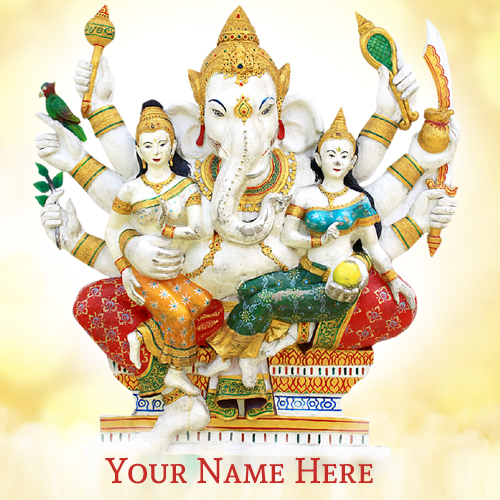Write Name on Happy Ganesh Chaturthi 2015 Greetings