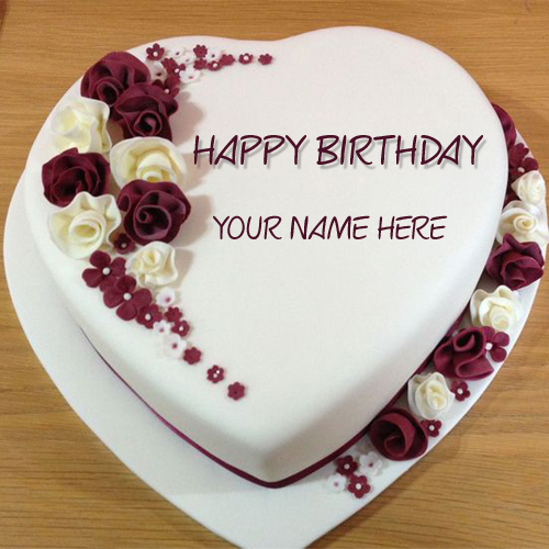 Write Name on Best Wishes Birthday Cake Online Free