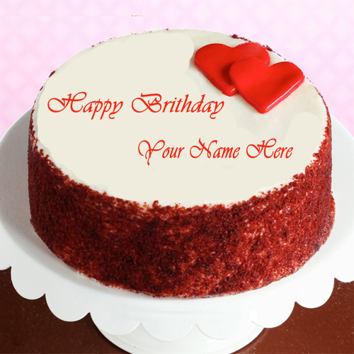 Write Name On Love Birthday cake Online Free