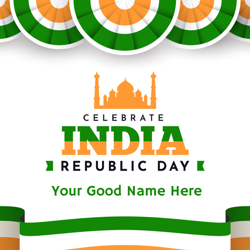 Write Name on Happy Republic Day 2021 DP Pics