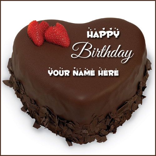 Write your name on brithday cakes online pictures editing happy birthday chocolate creamery heart cake with name publicscrutiny Image collections