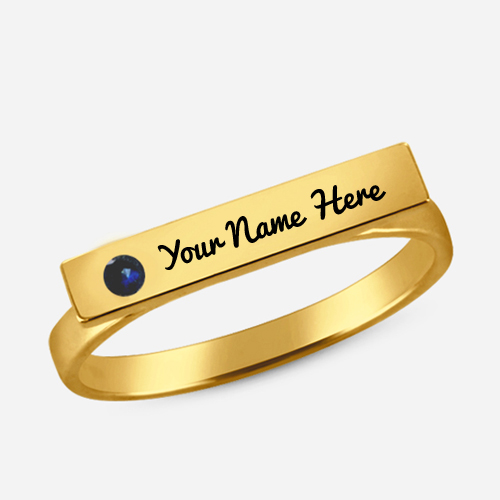 Write Your Name on Engagement Ring with Birthstone