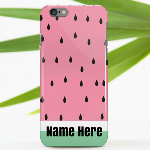 Designer Pink Iphone Mobile Case With Custom Name