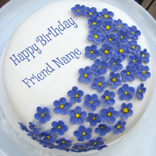 Birthday wishes with name on cake for facebook