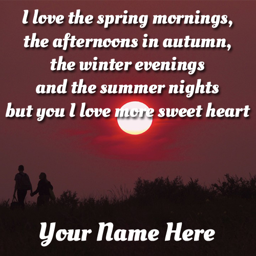 Romantic Love Quote Greeting For Whatsapp With Name
