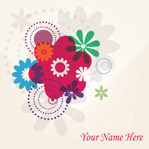 Write Your Name On Traveling Flowers Online
