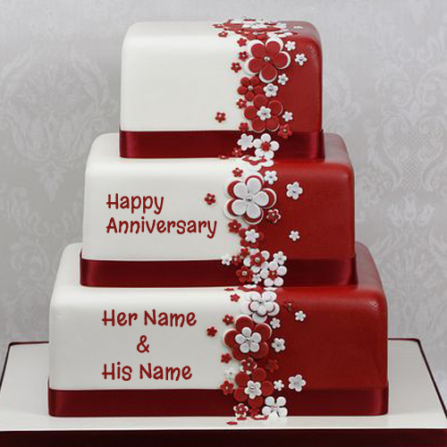 Anniversary Cake Images With Name And Photo Editor : Happy Anniversary Cake Name Picture Online