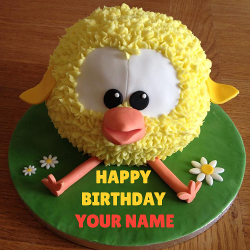 Write Name On Tweety Kids Birthday Cake with Name Pic