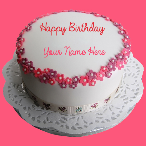 Write Name on Birthday Round Cake and Send on Whatsapp
