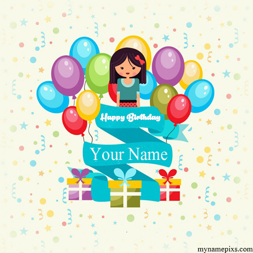 Write Your Name On Birthday Gifts Greetings Picture