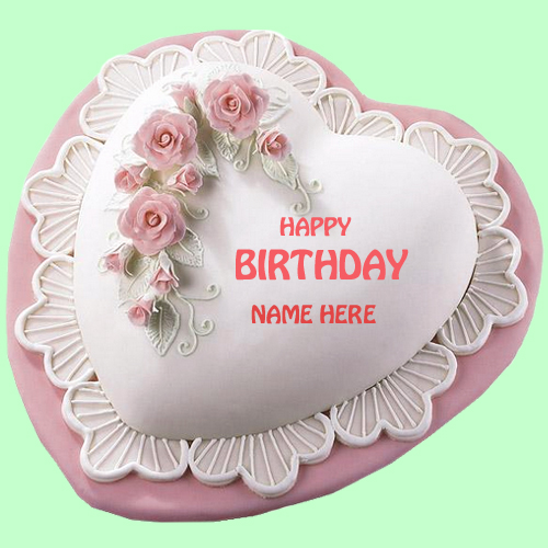 Happy Birthday Floral Designer Cake With Your Name