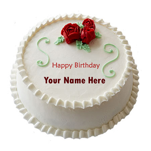 Write Name On Happy Birthday Decorated Cake Online