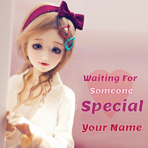Cute Doll Waiting For Someone Special Greeting With Nam